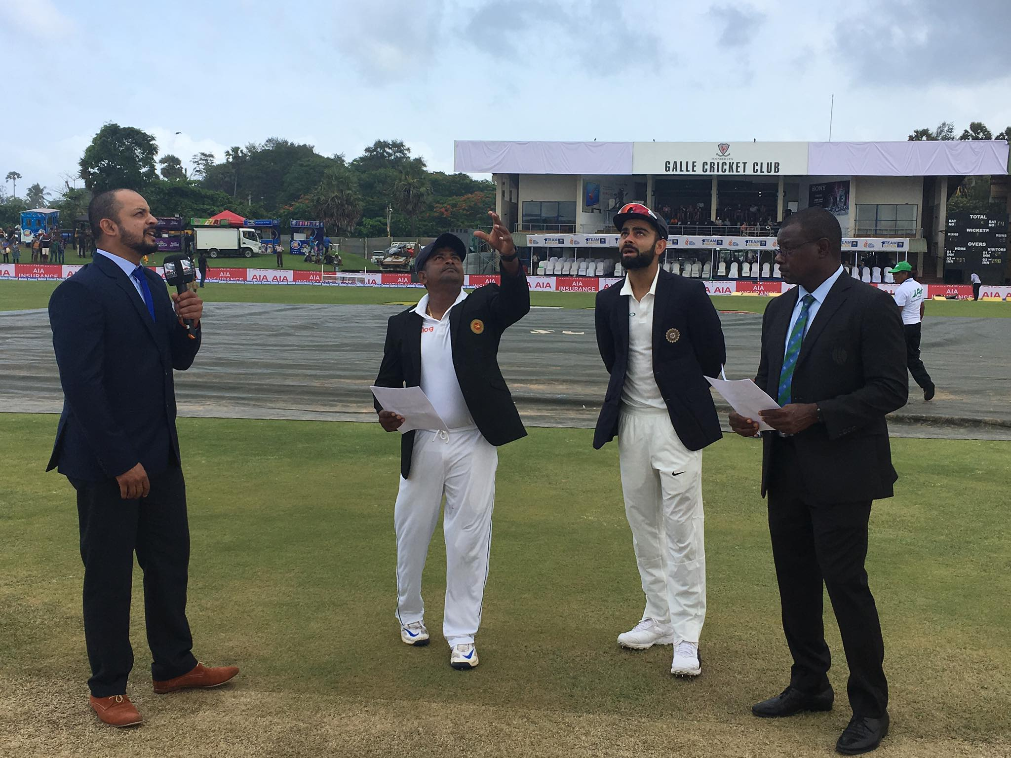 idnia win the toss in galle